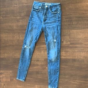 Zara high waisted blue skinny jeans